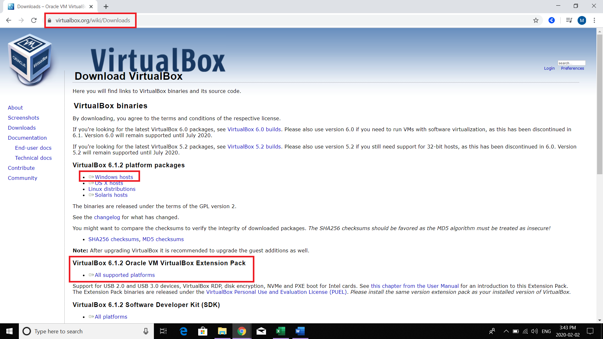 Download and Install Oracle VirtualBox